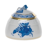 Herend Chinese Bouquet Blue Honey Pot