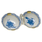Herend Chinese Bouquet Blue Twin Salt