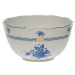 Herend Chinese Bouquet Blue Round Serving Bowl