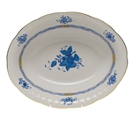 Herend Chinese Bouquet Blue Oval Vegetable Dish