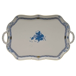 Herend Chinese Bouquet Blue Rectangular Tray