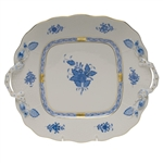 Herend Chinese Bouquet Blue Square Cake Plate