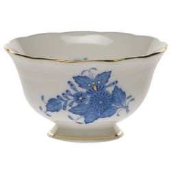 Herend Chinese Bouquet Blue Open Sugar Bowl