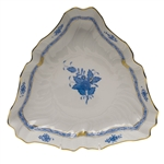 Herend Chinese Bouquet Blue Triangle Dish