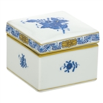 Herend Square Box Chinese Bouquet Blue