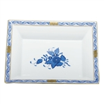 Herend China Jewelry Tray Chinese Bouquet Blue