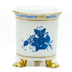 Herend Chinese Bouquet Blue Mini Cachepot with Feet