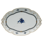 Herend Chinese Bouquet Black Sapphire Ribbon Tray