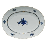 Herend Chinese Bouquet Black Sapphire Platter