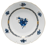 Herend Chinese Bouquet Black Sapphire Dessert Plate