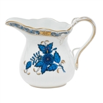 Herend Chinese Bouquet Black Sapphire Creamer