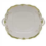Herend Princess Victoria Green Square Cake Plate