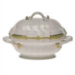 Herend Princess Victoria Green Tureen With Branch Handles