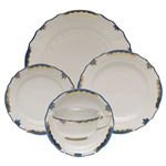 Herend Princess Victoria Blue Five Piece Place Setting