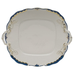 Herend Princess Victoria Blue Square Cake Plate