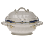 Herend Princess Victoria Blue Tureen With Branch Handles