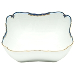 Herend Princess Victoria Blue Square Salad Bowl