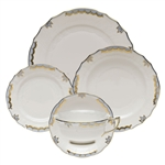 Herend Princess Victoria Light Blue Five Piece Place Setting