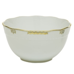 Herend Princess Victoria Gray Round Serving Bowl
