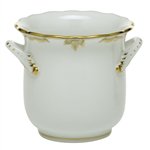 Herend Princess Victoria Gray Mini Handle Cachepot