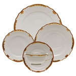 Herend Princess Victoria Rust Five Piece Place Setting