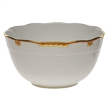 Herend Princess Victoria Rust Round Serving Bowl