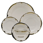 Herend Princess Victoria Black Five Piece Place Setting