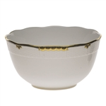 Herend Princess Victoria Black Round Serving Bowl