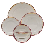 Herend Princess Victoria Pink Five Piece Place Setting