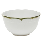 Herend Princess Victoria Dark Green Round Serving Bowl