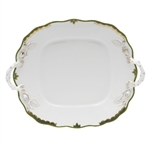 Herend Princess Victoria Dark Green Square Cake Plate
