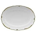 Herend Princess Victoria Dark Green Platter