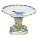 Herend Shell With Dolphin Stand Chinese Bouquet Blue