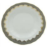 Herend Fish Scale Gray Border Rim Soup Plate