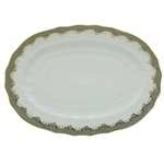 Herend Fish Scale Gray Border Platter