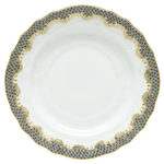 Herend Fish Scale Gray Border Bread and Butter Plate