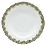 Herend Fish Scale Gray Border Salad Plate