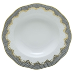 Herend Fish Scale Gray Border Dessert Plate