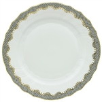 Herend Fish Scale Gray Border Dinner Plate