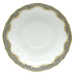 Herend Fish Scale Gray Border Canton Saucer