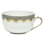 Herend Fish Scale Gray Border Canton Cup