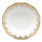 Herend Fish Scale Gold Border Rim Soup Plate