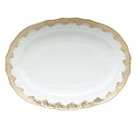 Herend Fish Scale Gold Border Platter