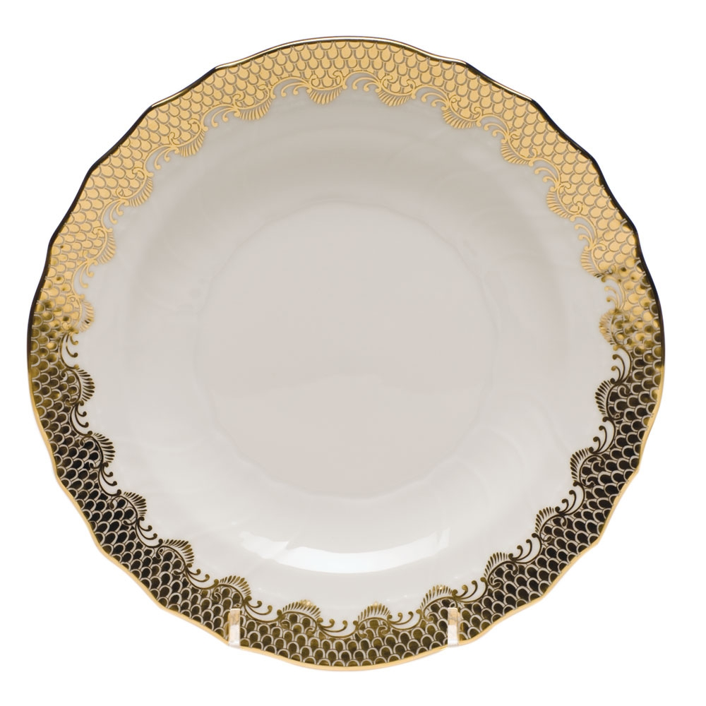 Herend Fish Scale Gold Salad Plate At Herendstore