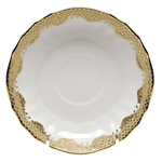 Herend Fish Scale Gold Canton Saucer