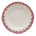 Herend Fish Scale Raspberry Salad Plate