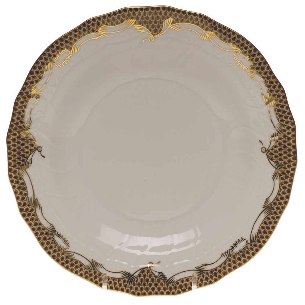 Herend Fish Scale Brown Dessert Plate At Herendstore
