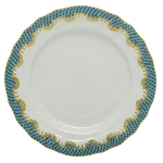 Herend Fish Scale Turquoise Border Bread and Butter Plate