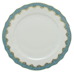 Herend Fish Scale Turquoise Border Service Plate