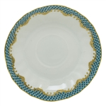 Herend Fish Scale Turquoise Border Canton Saucer
